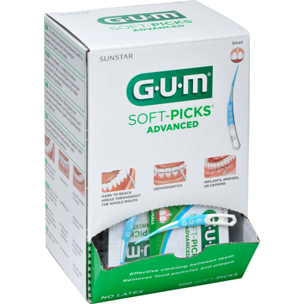GUM SOFT-PICKS Advanced small 0,8 mm, Spenderbox 100x1 Stück